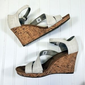 Tom's Strappy Wedge Sandals Sz 9W